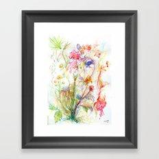 Floral Spree Framed Art Print