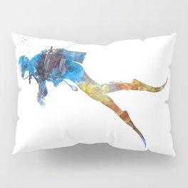 Man scuba diver 01 in watercolor Pillow Sham