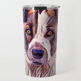 The Norwegian Elkhound Travel Mug