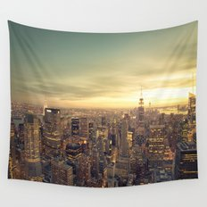 New York Skyline Cityscape Wall Tapestry