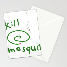 Kill mosquito Stationery Cards