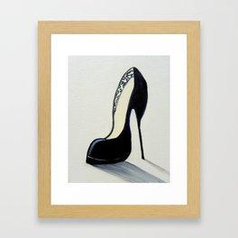 Black High Heel Shoe Framed Art Print