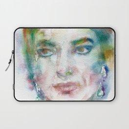 MARIA CALLAS - watercolor portrait Laptop Sleeve