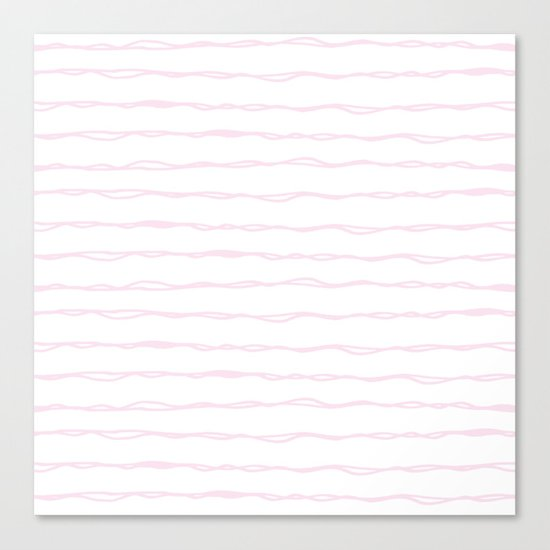 Simply Wavy Lines in Desert Rose Pink Canvas Print
