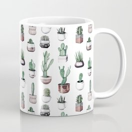 Cactus + Succulents Rose Gold Pattern by Nature Magick Coffee Mug
