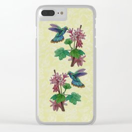 Twin Hummingbirds Clear iPhone Case