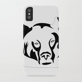 Lazy Grizzly iPhone Case