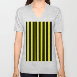 Strips 6-line,band,striped,zebra,tira,linea,rayas,rasguno,rayado. Unisex V-Neck
