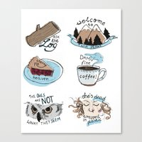 twin peaks Canvas Prints featuring // twin peaks // by // PIGEON //