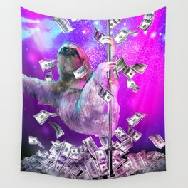 Dancing Pole Strip Sloth Dancer Wall Tapestry