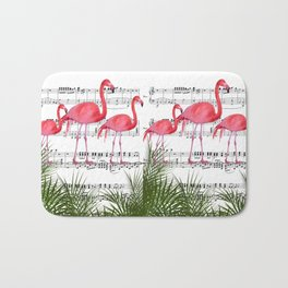 Flamingo dance Bath Mat