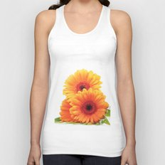 Floral Pattern Design Unisex Tank Top
