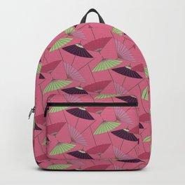 Japanese Neck Gator Oil Paper Umbrella Wagasa Backpack