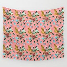 Retro Bouquet & Butterflies Wall Tapestry