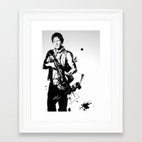 daryl dixon Framed Art Prints featuring Daryl Dixon by Black And White Store