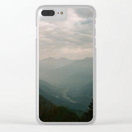 Shades of Mountains Clear iPhone Case