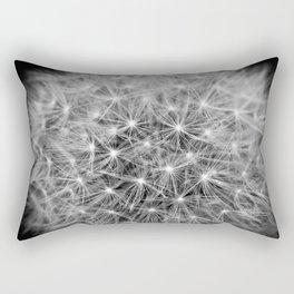 Dandelion flower head composed of numerous small florets Rectangular Pillow
