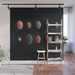 Exoplanets in the cosmos Wall Mural