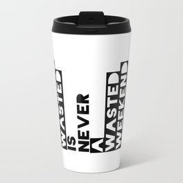 A Weekend Water (Black) Travel Mug