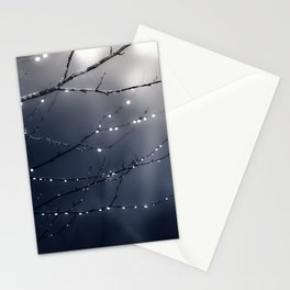 DARK BLUE FOREST Stationery Cards