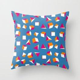 Cubes and Pyramids Throw Pillow