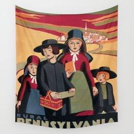 Vintage poster - Rural Pennsylvania Wall Tapestry