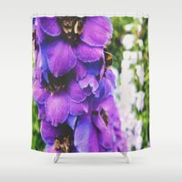 bee Shower Curtains featuring Bee by Siobhan N Malone