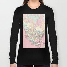 World Map North America Long Sleeve T-shirt