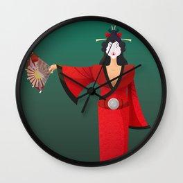 Vector Geisha (Turning Japanese) Wall Clock