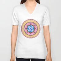 spires V-neck T-shirts featuring Castle Spires, kaleidoscope by designoMatt