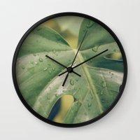 Philomena Philodendron Wall Clock