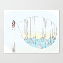 Toen bleek het een goudvis..... Canvas Print