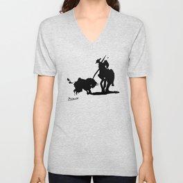 Pablo Picasso Picador 1959 Artwork Shirt, Art Reproduction Unisex V-Neck