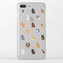 Dog Breeds with Hearts Clear iPhone Case