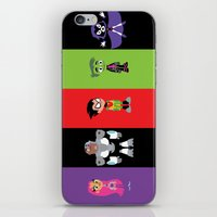 teen titans iPhone & iPod Skins featuring Teen Titans Go by Adrian Mentus