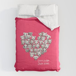 Just Love. (white text) Comforters
