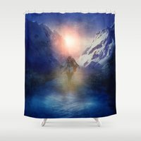 assassins creed Shower Curtains featuring Assassins Creed by Viviana Gonzalez