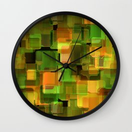 Creative graphic pattern. Wall Clock