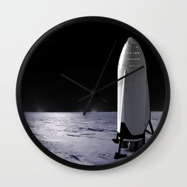 SpaceX Mission to Mars Martian Landscape Dragon Wall Clock