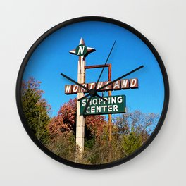 northland shopping center signage Wall Clock