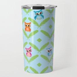 Modern Owls Travel Mug