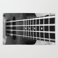 bass Area & Throw Rugs featuring bass guitar by Falko Follert Art-FF77