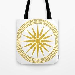 Vergina Sun Macedonian Star Argead Ancient Greek Pride Tote Bag