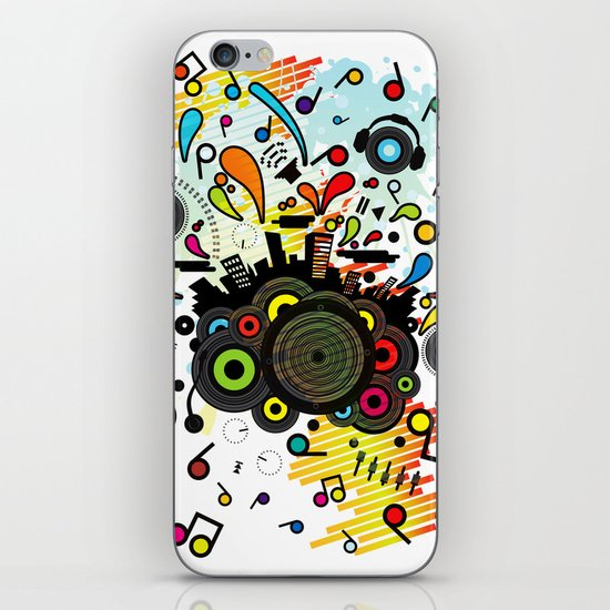 POP_MUSIC iPhone & iPod Skin