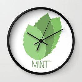 Mint Leaves Wall Clock