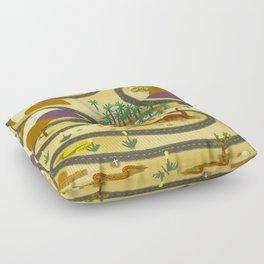 Desert Road Trip Floor Pillow