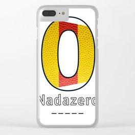 Nadazero - Navy Code Clear iPhone Case