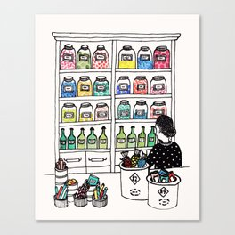 The Candy Shop Canvas Print