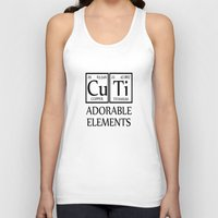 periodic table Tank Tops featuring CUTI Adorable Elements Periodic Table by raineon