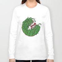 "teeth Long Sleeve T-shirts featuring ""Teeth"" by Daniel Gestri"